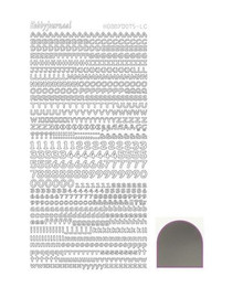 Find It Trading Hobby Dots Mini Alphabet -Mirror SILVER  STDMLC8