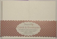 Trimcraft DCCE032 2.9 x 4.13' White Dovecraft Mini Cards with Envelopes (20 Pack)