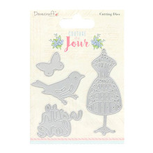 Dovecraft Couture du Jour Cutting Dies Dressform, Bird Butterfly and With Love