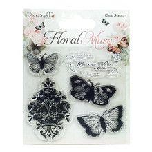 Dovecraft Floral Muse Clear Stamp-Butterfly