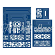 Tattered Lace Essentials Concertina Card Cutting Dies Set TLD0201 50-Dies
