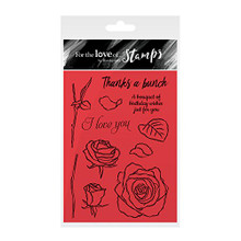 Hunkydory Crafts For the Love of Stamps - Rose Bouquet- FTLS168