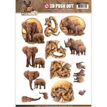 Amy Design Wild Animals 3D Push Out SB10162 Paper Tole 3-D Decoupage