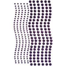 Want2Scrap 250 Count Rhinestones Purple Self Adhesive Gems 250-7