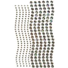 Want2Scrap 250 Count Rhinestones Clear AB Self Adhesive Gems 250-3