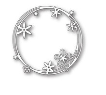 Poppystamps 100% Steel Die Scribble Flower Circle 1801