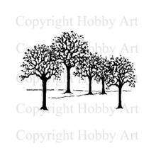 Hobby Art Foam Mounted Winter Trees SC1702E