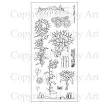 Hobby Art Sunflowers Clear Stamps CS064D