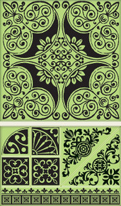 Inkadinkado Ornamental Tile Cling Stamp Set