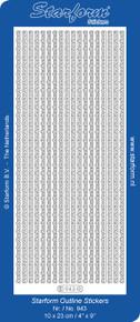 Starform LACE BORDERS 943 SILVER Peel Stickers