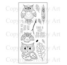 Hobby Art Clear Stamps Ornate Owls CS115D