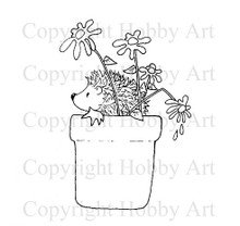 Hobby Art Foam Mounted Potted Hedgehog LT701F