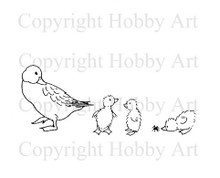 Hobby Art Foam Mounted Come on Kids LT847C Ducks
