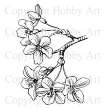 Hobby Art Foam Mounted Cherry Blossom OR1836E