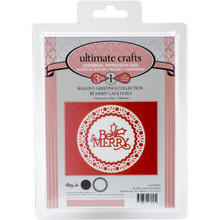 Ultimate Crafts Die-Be Merry Lace Doily, 3.7'