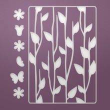 Ultimate Crafts Background Gallery Die-Floral Silhouettes, 2.7'X3.9'