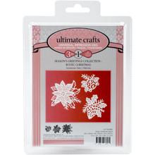 Ultimate Crafts Die-Rustic Christmas, 1.2' To 2'