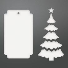 Couture Creations Be Merry Die-Christmas Tree Tag, 1.7'X3'
