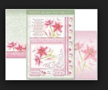 Hunkydory Sparkling Pearl - Lovely Lilies - Topper Set Card Kit
