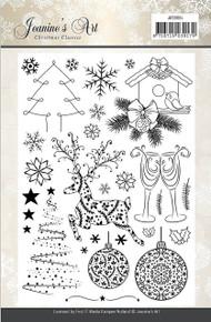 Jeanine's Art Christmas Classics Clear Acrylic Stamp Set JACS10004