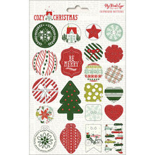 My Mind's Eye Cozy Christmas Chipboard Buttons-