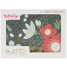 My Mind's Eye Christmas On Market St. Card Set-12 Cards & 12 Envelopes