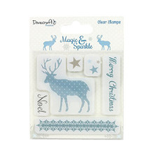 Dovecraft Magic & Sparkle Clear Stamps-Reindeer