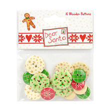 Dear Santa Wooden Buttons-