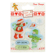 Dear Santa Stamps-Snowball Fight