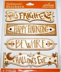 Jolee's Boutique  Halloween Wooden Signs 3-D Stickers