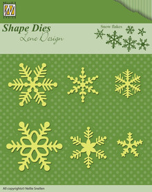 Nellie's Choice Snow Flakes Cutting Dies Designed by Lene