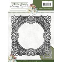 Precious Marieke Fantastic Flowers - Square Flowers Frame - Metal Die PM10090