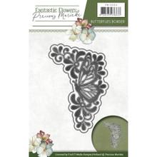Precious Marieke Fantastic Flowers - Butterflies Corner - Metal Die PM10094
