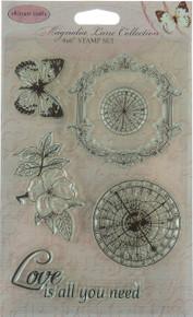 Ultimate Crafts Magnolia Lane Timeless Garden Stamp Set
