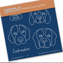 Groovi Babies - Labradors - Laser Etched Acrylic for Parchment Craft