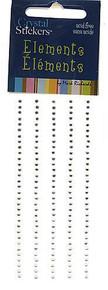 Mark Richards Enterprises Crystal Stickers Elements (Clear) - 2 mm