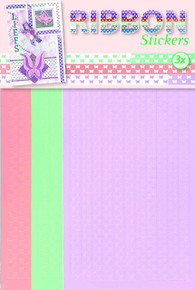 JEJE Produkt 3-Pack Ribbon Stickers, Butterflies