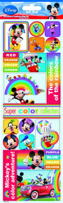 Sandylion Mickey and Friends Color Paper Sticker, 4-Inch by 12-Inch
