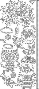 Find It Trading Owls Tree Silver Stickers 344201