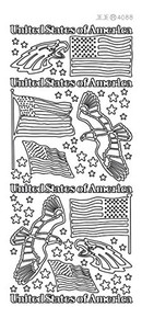 Ecstasy Crafts Peel-Off Stickers USA Eagles Gold 408800