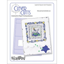 Art Gone Wild Layered Square Card Template Clever Cutts AGWLSCC
