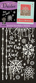 HOTP Dazzles Jeweled Snowflakes Stickers HOTP2594