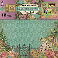 HOTP Double-Sided Garden Walk Paper Pack 12x12 12-Coordinating Papers