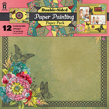 HOTP Double-Sided Paper Painting Paper Pack 12x12 12-Coordinating Papers