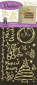 HOTP Dazzles Scribble Shapes Stickers HOTP2596