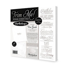 Hunkydory Crafts Trim Me Silver-Foiled Birthdays Inserts for Cards - 42 sheets