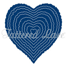 Tattered Lace Torn Edge Hearts Cutting Die TLD0313