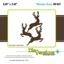 Die-Versions Reindeer Dance Cutting Dies DV-697