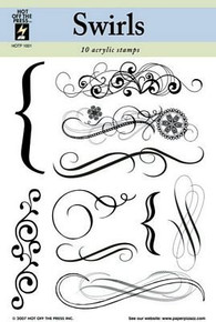 HOTP Swirls Clear Acrylic Rubber Stamps Unmounted 1001
