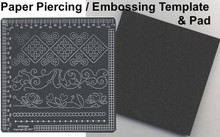 Ecstasy Crafts Sm Piercing Borders Template w/Mat Parchment Craft